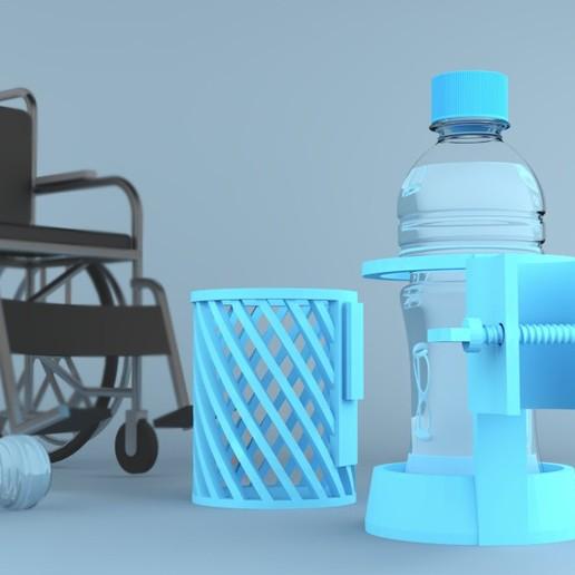 Télécharger fichier STL gratuit Porte-bouteille d'eau • Modèle imprimable en 3D, sammy3