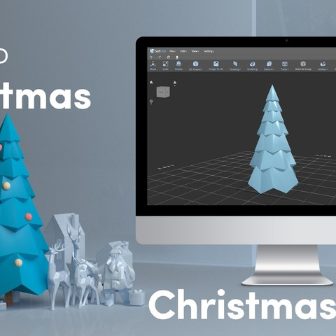 Free 3D printer files Low Poly Christmas Tree, sammy3
