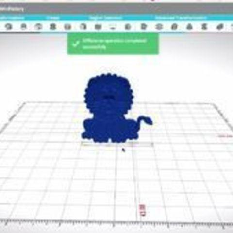 FWEOE14J8AGOEBU.SMALL.jpg Télécharger fichier STL gratuit Prêt à imprimer le modèle d'un lion • Plan pour impression 3D, sammy3