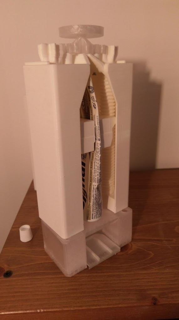 IMAG3072.jpg Download free STL file Toothpaste Dispenser • 3D print model, Anthony_SA