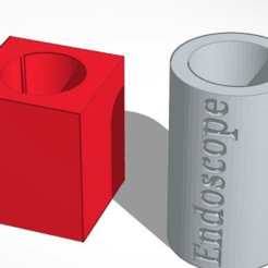 Download free STL file Endoscope mount and protector cap 8mm dia • 3D printable design, Norm202
