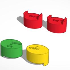 Download free STL file lamp arm limiter ver 1 & 2 • 3D printer design, Norm202