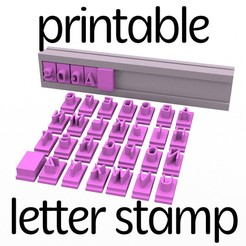 Download STL files Alphabet Stamp - Alphabet stamp in capital letters - 6x5mm, Agos3D