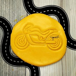 Download STL files MOTORCYCLE RACING - SET OF MOTORBIKE COOKIE CUTTERS. SHORT MASS FONDANT AND VEHICLE CLAY - 9cm, Agos3D