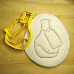 7.jpg Download STL file Alice in Wonderland posion bottle - Alice in Wonderland - cookie cutter - theme party - dough and clay cutter - 8cm • 3D print object, Agos3D