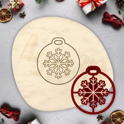 1.jpg Download STL file Christmas ornament cookie - CHRISTMAS - christmas cookie cutter - xmas party cookie cutter - house / fondant cutter - 8cm • 3D printing template, Agos3D