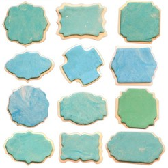 cookies.jpg Download STL file 12 PACK - PLAQUE COOKIE CUTTER - COOKIE CUTTING PLATE OR FONDANT - RETRO VINTAGE • 3D printer model, Agos3D