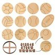 Download 3D model 13 SPORT BALLS PACK OF COOKIE CUTTERS + NUMBERS! - BIG FOOTBALL, TENNIS, BASKETBALL AND MORE, Agos3D