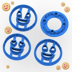 sonrisas2.jpg Télécharger fichier STL PACK of 3 / SONRISAS - moule à bagley - série de biscuits argentins - moule à pâte et argile - contour et sceau - 5cm • Design pour impression 3D, Agos3D