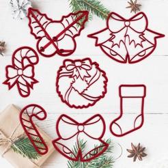 sanata3.jpg Télécharger fichier STL NOËL - moule à biscuits de Noël - moule à biscuits pour la fête de Noël - bas - ornement - sucre d'orge - cloche - moule à pâte fondante et argile - 8cm • Modèle pour imprimante 3D, Agos3D