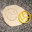 3D printer files 2 VOLLEYBALL COOKIE STAMPS + CUTTER - SPORT BALL, Agos3D