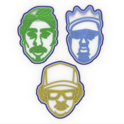Capture4.PNG Download STL file Baking with my Homies - 3-Pac of hip hop cookie stamps! • Model to 3D print, Agos3D