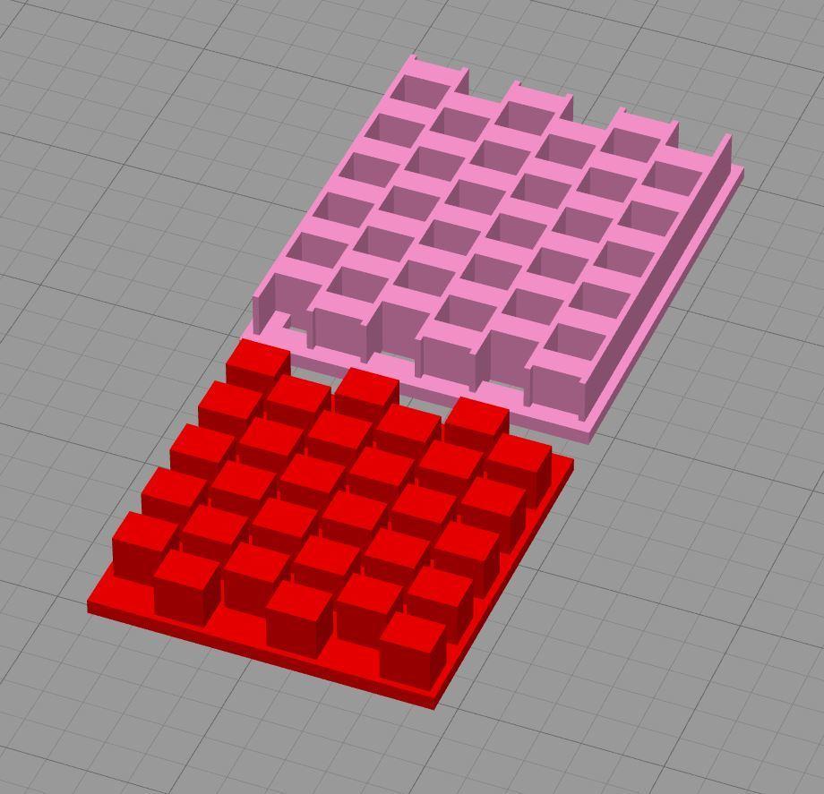 Capture.JPG Download free STL file Texture of squares • 3D printing model, Agos3D