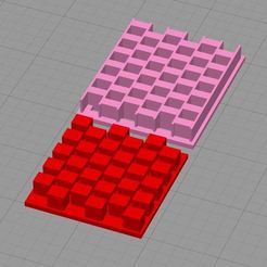 Capture.JPG Download free STL file Texture of squares • 3D printing model, Agos3D