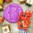Download free 3D printing models CAT - COOKIE CUTTER FOR FARM ANIMALS. GATITO - SHORT FONDANT MASS AND CRAIL - 8cm, Agos3D