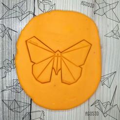 4.jpg Télécharger fichier STL gratuit Papillon - origami COOKIE CUTTER CUTTER CUTTER CUTTER CUTTING PLATE OR FONDANT of papfly - 8cm • Objet à imprimer en 3D, Agos3D