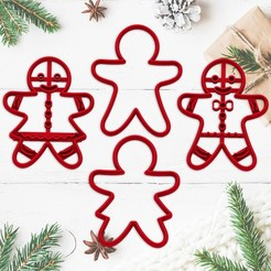sanata4.jpg Télécharger fichier STL GINGERBREAD cookie - moule à biscuit de Noël - moule à biscuit pour la fête de Noël - pain d'épices homme et femme - 8cm • Plan à imprimer en 3D, Agos3D