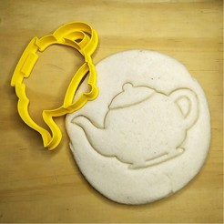 Download 3D printer designs Alice in Wonderland - teapot - Alice in Wonderland - cookie cutter - theme party - dough and clay cutter - 8cm, Agos3D