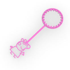peppa.PNG Download free STL file peppa pig bubble wand - pepa bubble wand - kids • 3D printable template, Agos3D