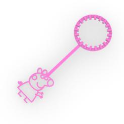peppa.PNG Télécharger fichier STL gratuit Baguette à bulles Peppa Porc - Baguette à bulles Pepa - enfants • Objet à imprimer en 3D, Agos3D