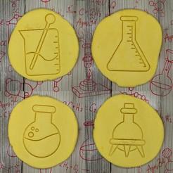 7.jpg Télécharger fichier STL boule et trépied, Erlenmeyer, précipité - FLASK - emporte-pièce - fête de la science, scientifique, laboratoire - pâte et argile coupées - 9cm • Objet imprimable en 3D, Agos3D