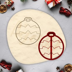 7.jpg Download free STL file Christmas ornament cookie - CHRISTMAS - christmas cookie cutter - xmas party cookie cutter - house / fondant cutter - 8cm • 3D printing template, Agos3D