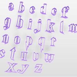 a3.JPG Télécharger fichier STL L'alphabet Harry Potter : un emporte-pièce et des timbres - minuscules - lettres ! 4-5cm • Modèle pour imprimante 3D, Agos3D