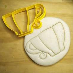 Download 3D printer files Alice in Wonderland - cup - Alice in Wonderland - cookie cutter - theme party - dough and clay cutter - 8cm, Agos3D