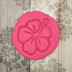 1.jpg Download STL file TROPICAL FLOWER - TROPICAL COOKIE CUTTER - HAWAIIAN FONDANT OR COOKIE CUTTING PLATE • 3D printer model, Agos3D