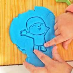 Download STL file Pocoyo cookie cutter and stamps, Agos3D
