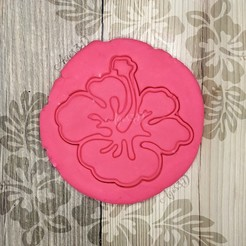 3.jpg Download STL file TROPICAL FLOWER - TROPICAL COOKIE CUTTER - HAWAIIAN FONDANT OR COOKIE CUTTING PLATE • 3D printer model, Agos3D