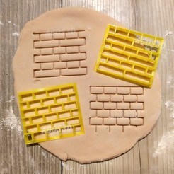 Download 3D printing files brick texture - cookie cutter - wall infinite pattern - cuts fondant dough batter and more, Agos3D