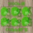 Download 3D printing designs PACK 12 CACTUS - cookie cutter - Mexican party, desert, summer - cut dough and clay - 12cm, Agos3D