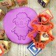 Télécharger fichier impression 3D gratuit MOUTON - coupeur de biscuits d'animaux de la ferme. pâte à fondant et argile - 8cm, Agos3D