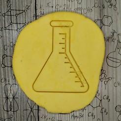 6.jpg Télécharger fichier STL Erlenmeyer FLASK - emporte-pièce - fête de la science, scientifique, laboratoire - pâte et argile coupées - 9cm • Modèle imprimable en 3D, Agos3D