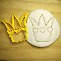 8.jpg Download STL file Alice in Wonderland - queen of hearts crown - Alice in Wonderland - cookie cutter - theme party - dough and clay cutter - 8cm • 3D printing object, Agos3D