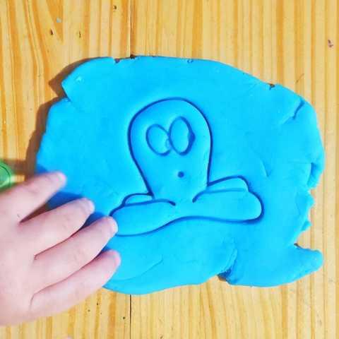 Télécharger fichier imprimante 3D Pieuvre - pieuvre à l'emporte-pièce et timbres de pocoyo, Agos3D