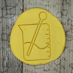 5.jpg Télécharger fichier STL bécher FLASK - emporte-pièce - fête de la science, scientifique, laboratoire - pâte coupée et argile - 9cms • Plan imprimable en 3D, Agos3D