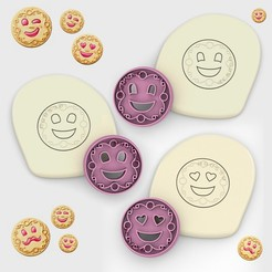 sonrisas.jpg Download STL file PACK of 3 / SONRISAS - bagley cookie cutter - argentinean dough and clay cutter series - 5cm • Template to 3D print, Agos3D