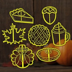 Thanksgiving-background-3-e1530559564588.jpg Download STL file Thanksgiving cookie - autumn give thanks - party cookie cutter - house / fondant cutter - 8cm • Template to 3D print, Agos3D