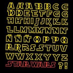 letrasa.jpg Télécharger fichier STL 55 PACK - alphabet star wars jedi cookie cutter alphabet - majuscule - minuscules avec variations ! 4-5cm • Objet pour imprimante 3D, Agos3D