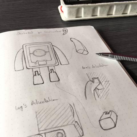 StratoBot2_Recherche.jpg Download free STL file StratoBot Stratomaker • 3D printing design, Skaternine