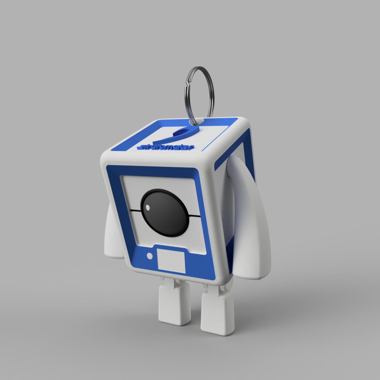 StratoBot2_Porte_Cle.png Download free STL file StratoBot Stratomaker • 3D printing design, Skaternine