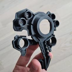 print.jpg Télécharger fichier STL Cyberpunk 2077 Dum Dum faceplate / the most accurate replica • Objet à imprimer en 3D, gobotoru