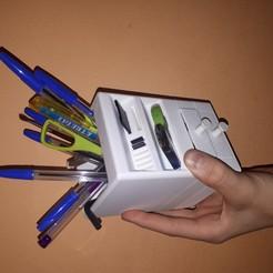 Descargar diseños 3D Pencil Holder, Juntosporlaimpresion3D