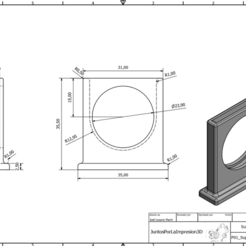 Download free 3D print files Coin suport 50cents, Juntosporlaimpresion3D
