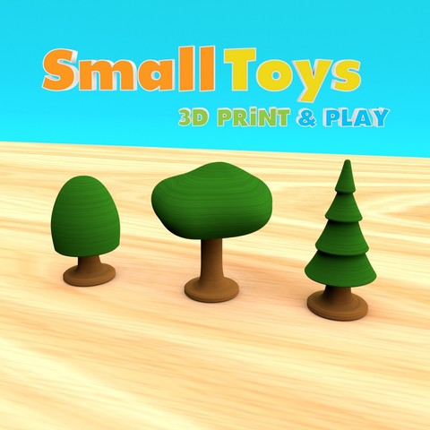Download free 3D print files SmallToys - Trees, Wabby