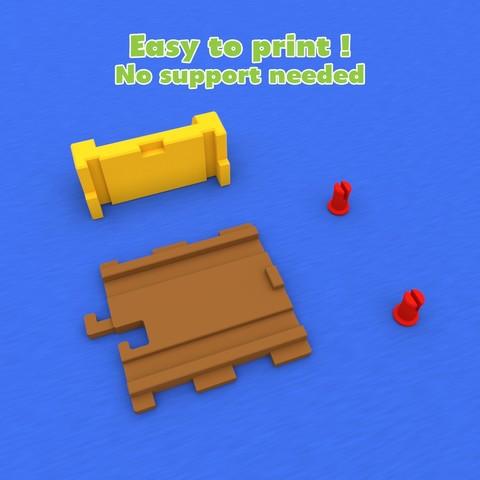 smalltoys-trainEndBumper04.jpg Download STL file SmallToys - Railways - Bumper stop • 3D printable model, Wabby
