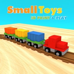 Modèle 3D SmallToys - Train de marchandise, Wabby