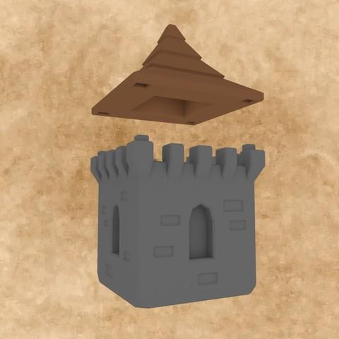 MarbleRunBlocks-MedievalCastlePack06.jpg Download STL file Marble Run Blocks - Medieval Castle pack • 3D printable template, Wabby